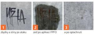 Aplikace ODSTRAŇOVAČE GRAFFITI Feltpen Fadeout.