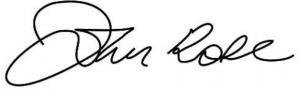John Rose podpis