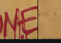 Vlhčené ubrousky Graffiti SafeWipes v akci - před a po čištění tagu