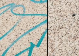 Vlhčené ubrousky Graffiti SafeWipes v akci - před a po čištění