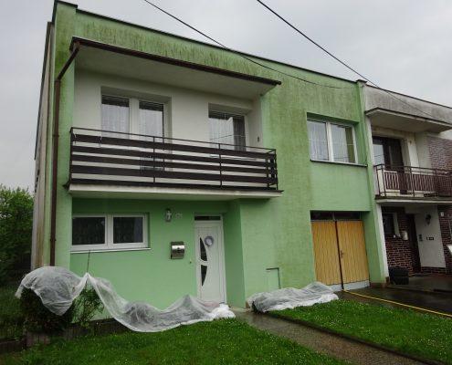 Čištění zelené fasády