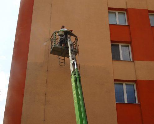 Obnovení fasády umytím