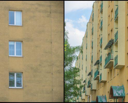 Srovnání fasád bytového domu