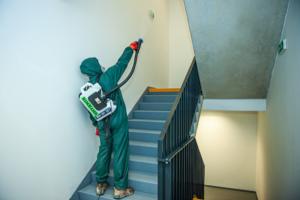 Dezinfekce bytového domu